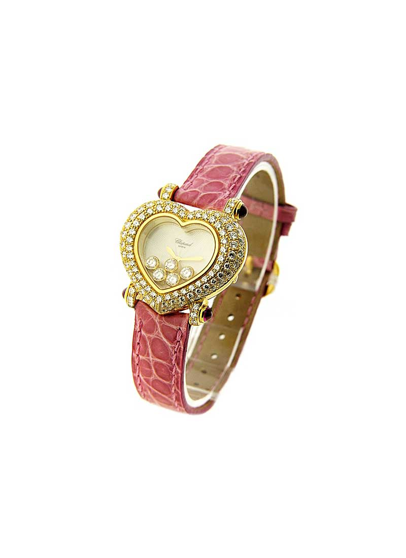 Chopard Haute Joaillerie Heart Shaped in Yellow gold with Diaond Bezel