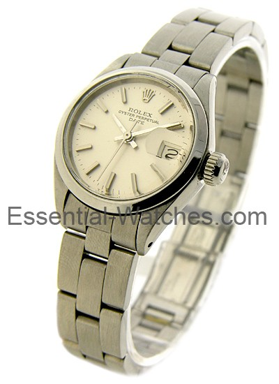 Pre-Owned Rolex Lady's Datejust in Steel with White Gold Smooth Bezel