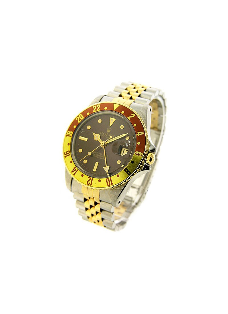 Rolex Used GMT Master in Steel and Yellow Gold with Engraved bezel