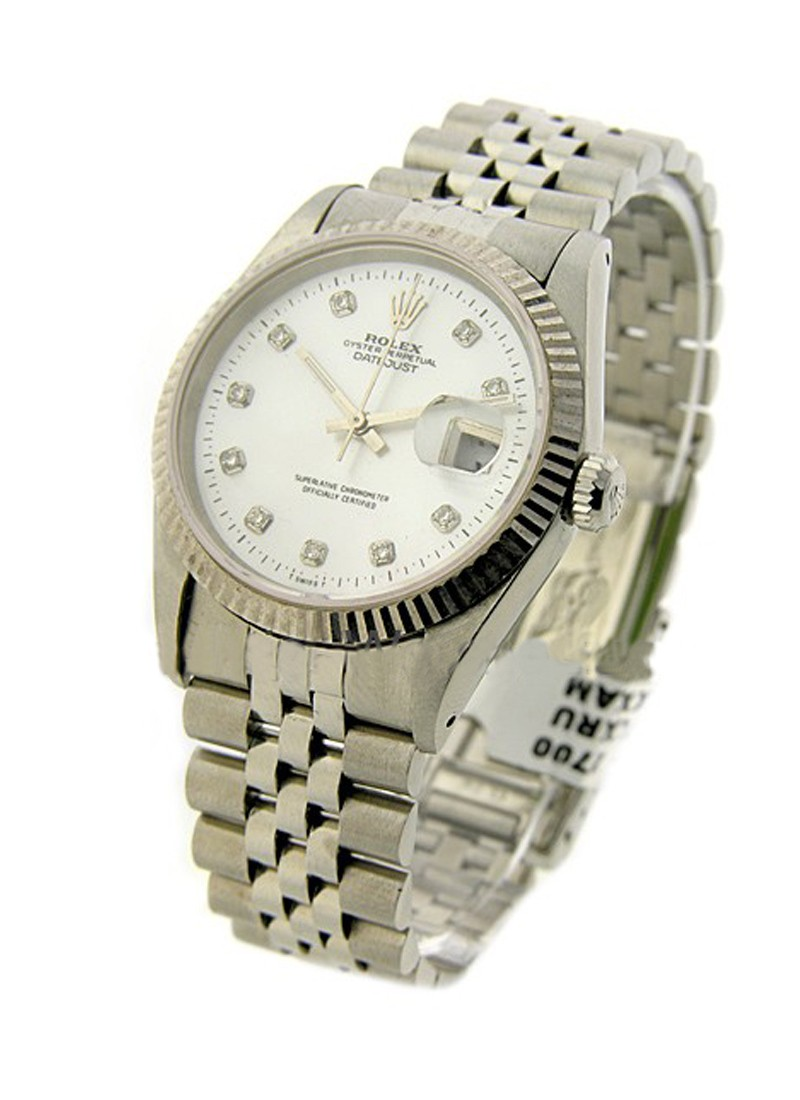 Rolex Used Men's Datejust 36mm with Fluted Bezel
