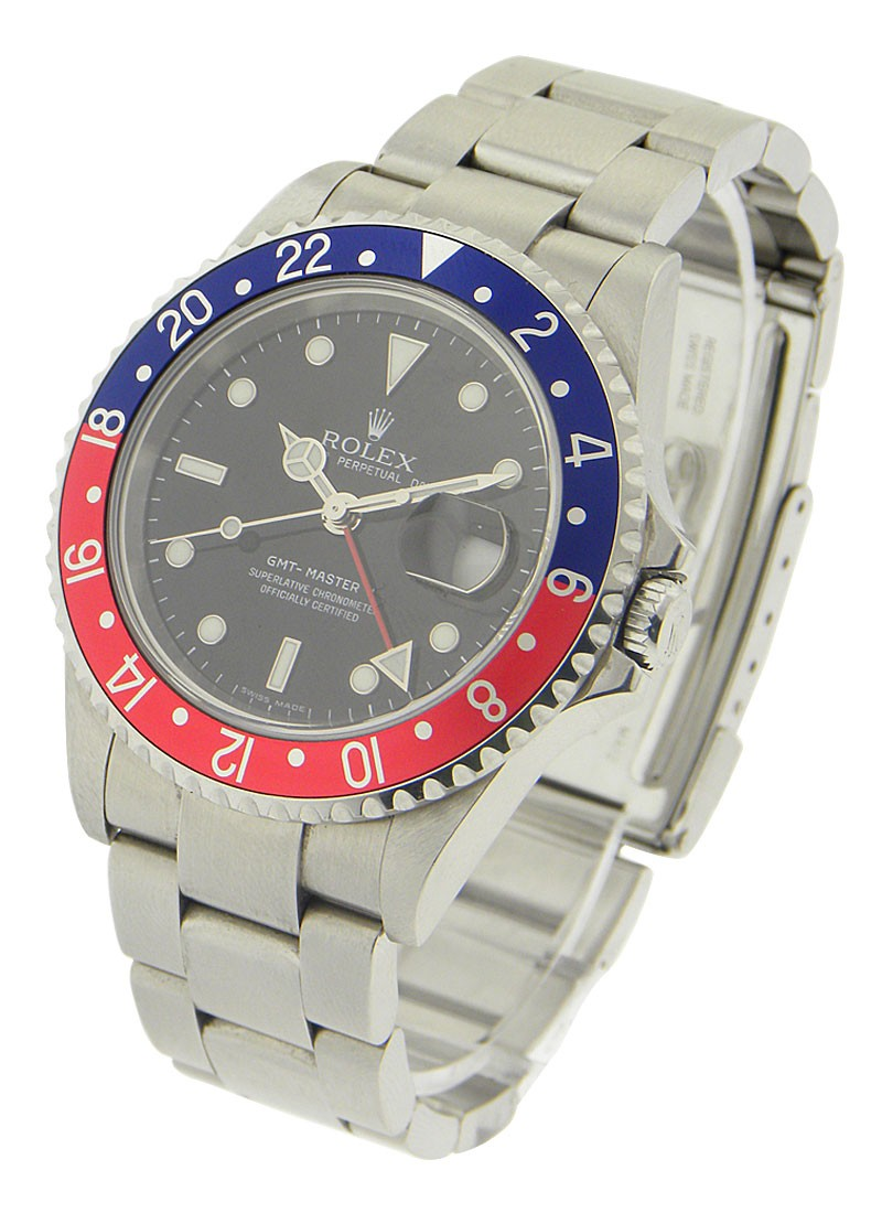 Pre-Owned Rolex GMT-Master II in Steel with Red and Blue Bezel