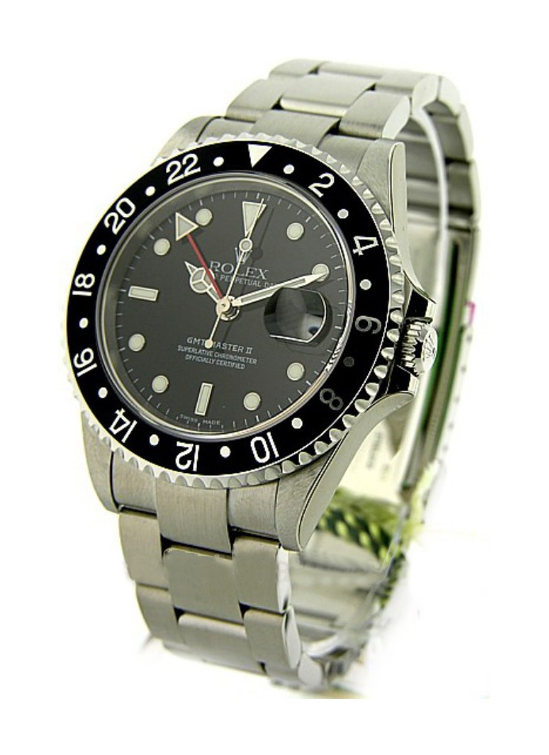 Rolex Used Stainless Steel GMT   Master II 16710