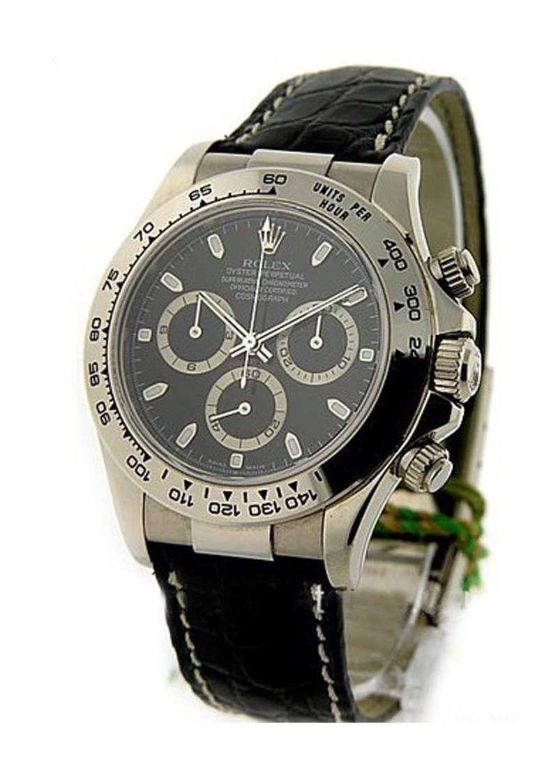 Rolex Used White Gold DAYTONA on Strap 116519