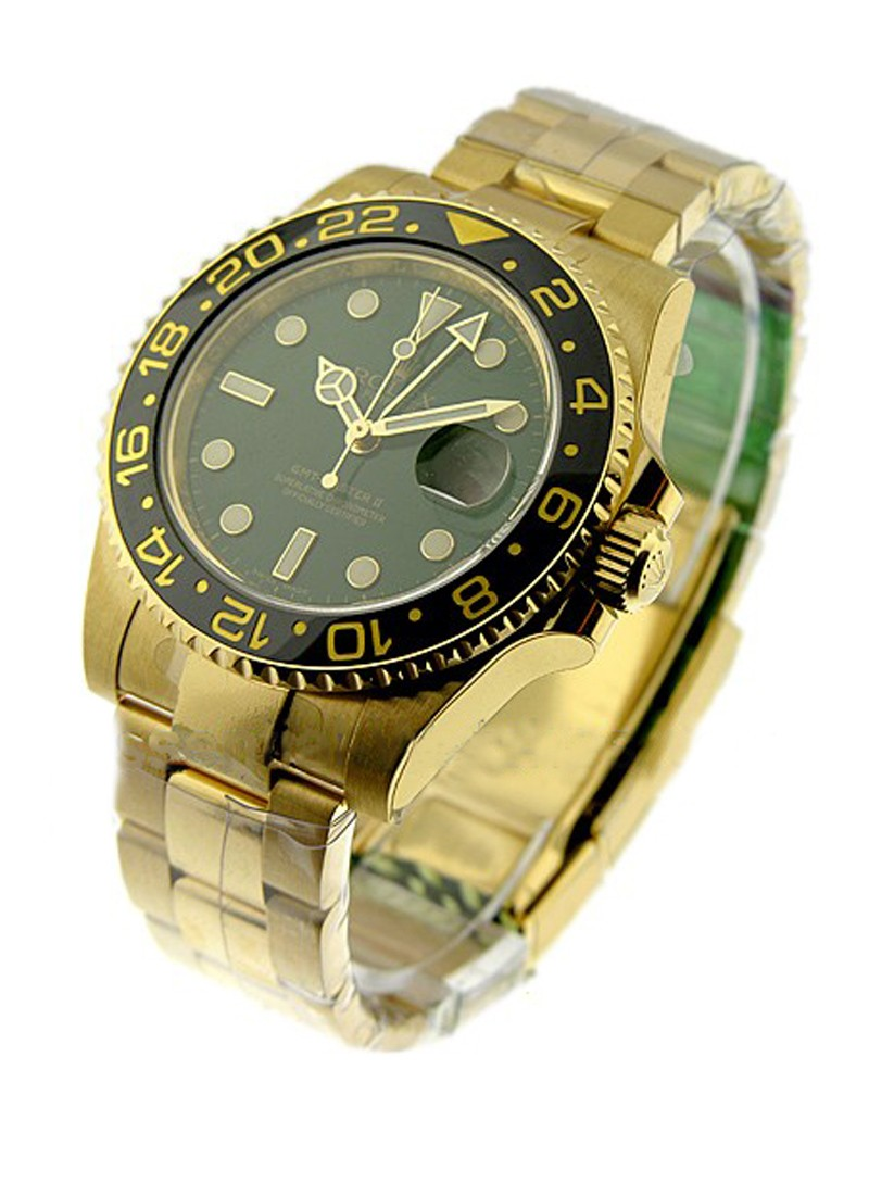 Rolex Unworn GMT Master II  in Yellow Gold with Black Ceramic Bezel - Anniversary Edition