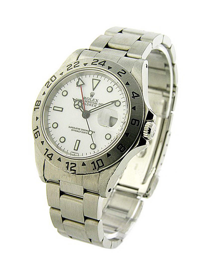 Pre-Owned Rolex Explorer II in Steel
