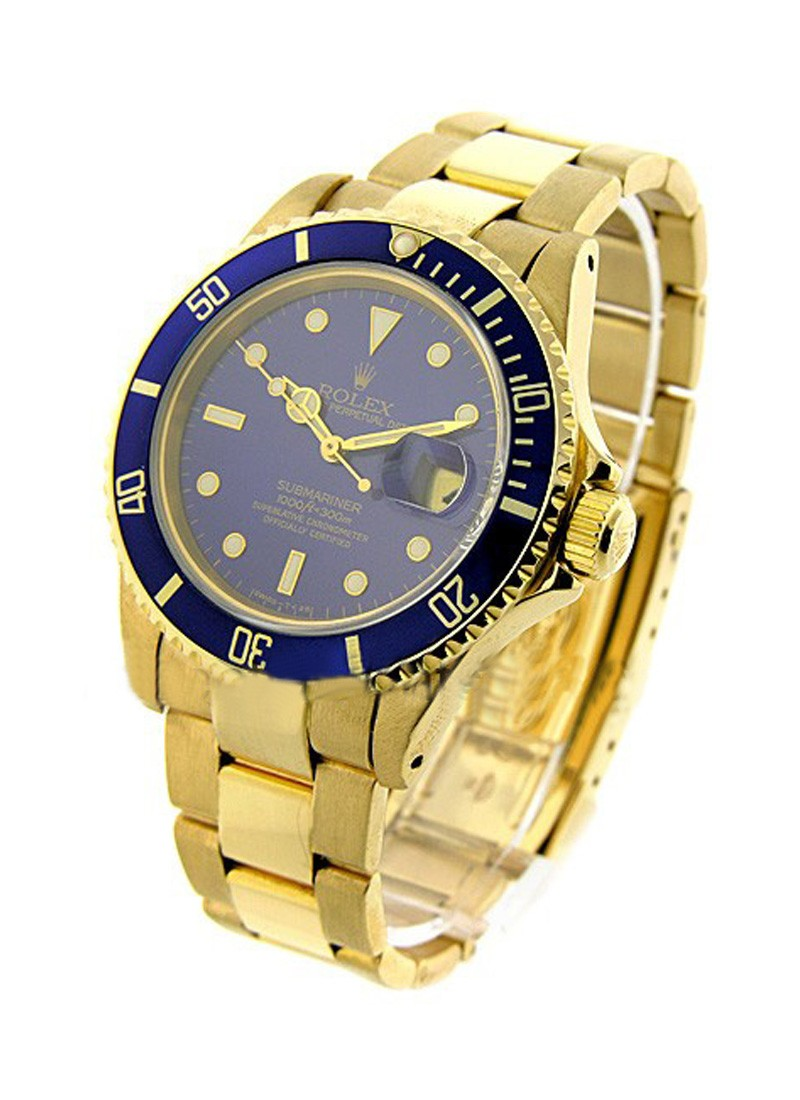Rolex Used All Gold Submariner   16618