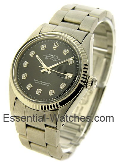 Pre-Owned Rolex Datejust in Steel with White Gold Fluted Bezel