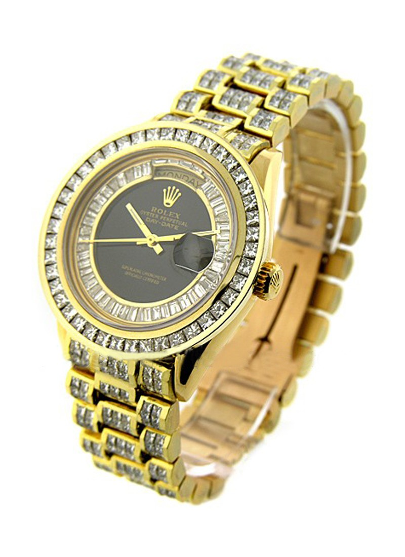 Rolex Used President - 36mm - Yellow Gold - Diamond Bezel
