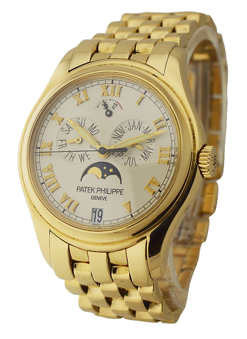 Patek Philippe Ref 5036/1J - Annual Calendar with Moon in Yellow Gold