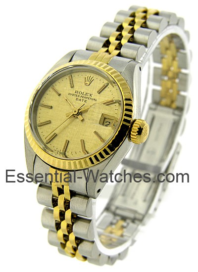 Pre-Owned Rolex Ladys 2-Tone Date 24mm - Fluted Bezel
