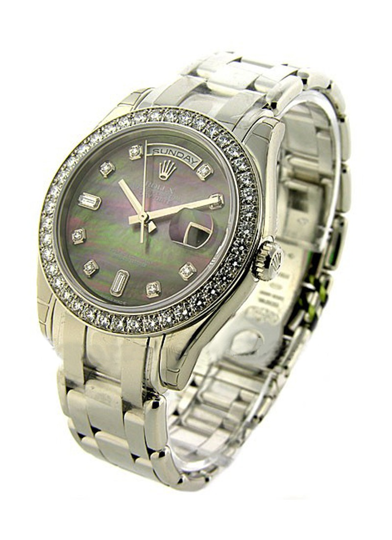 Rolex Unworn Masterpieces Men's Day  Date in Platinum with Diamond Bezel