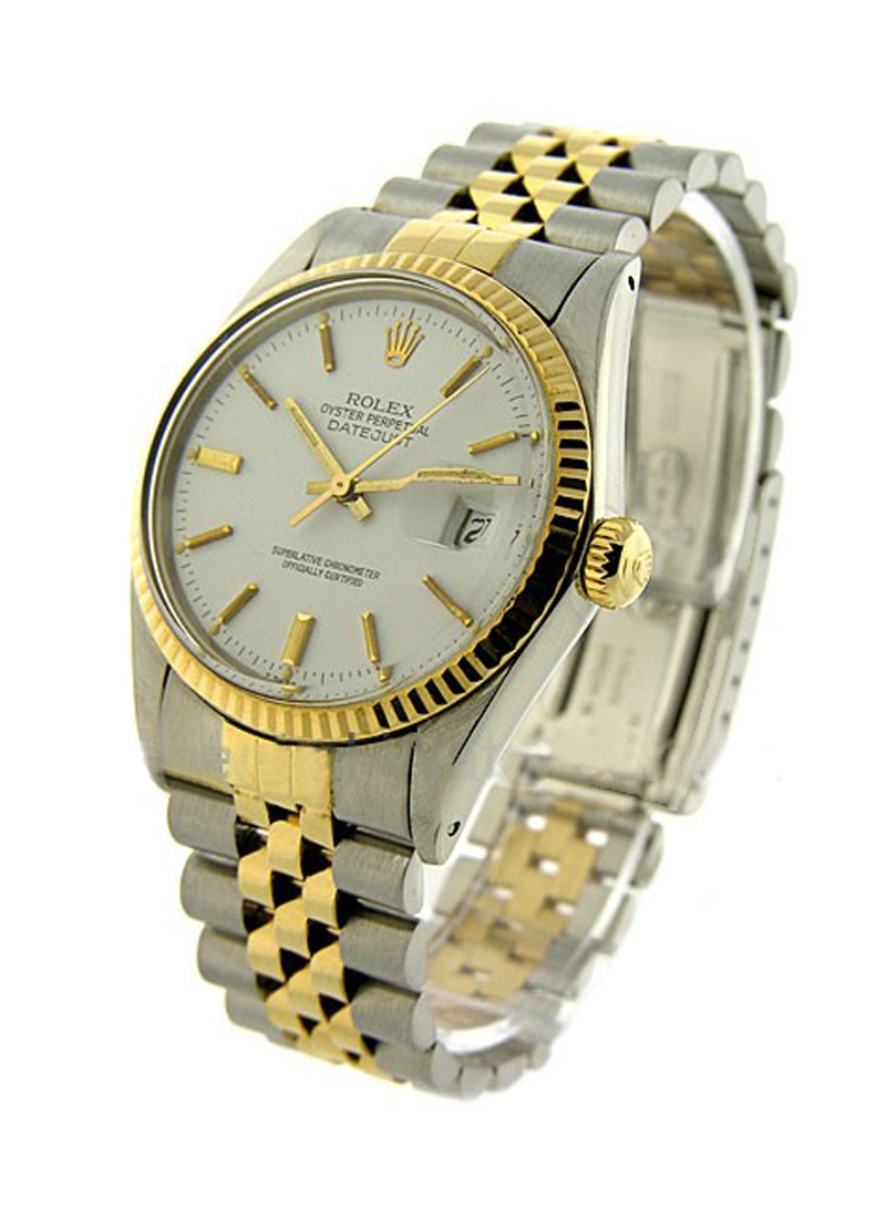 Rolex Used Men's 2 Tone Datejust   Fluted Bezel