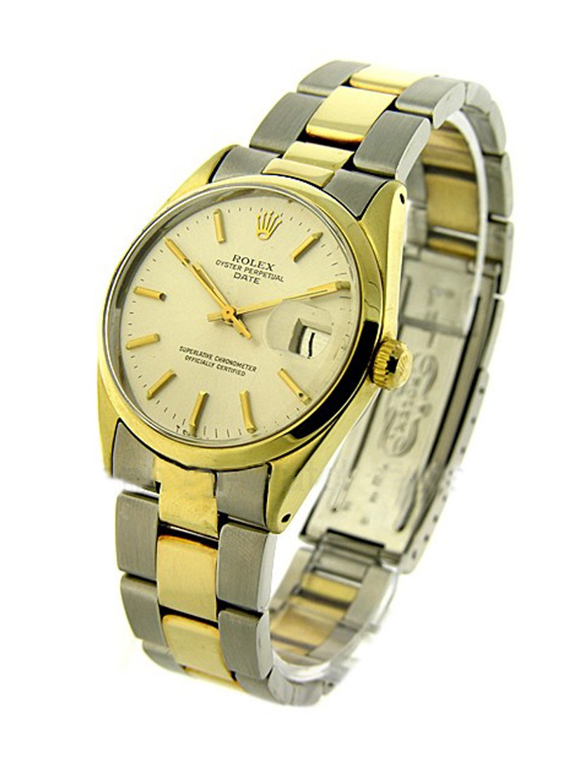 Rolex Used Vintage inSteel with Yellow Gold Smooth Bezel