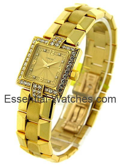 Concord Lady's Yellow Gold Square La Scala