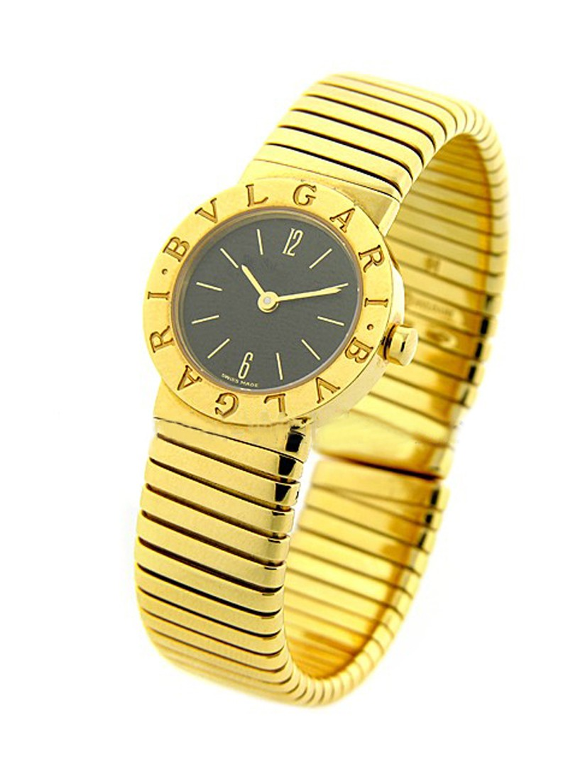 Bvlgari Tubogas Bangle 23mm in Yellow Gold