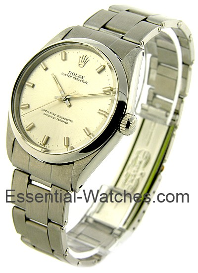 Rolex Used Mens Oyster Perpetual in Steel with Smooth Bezel
