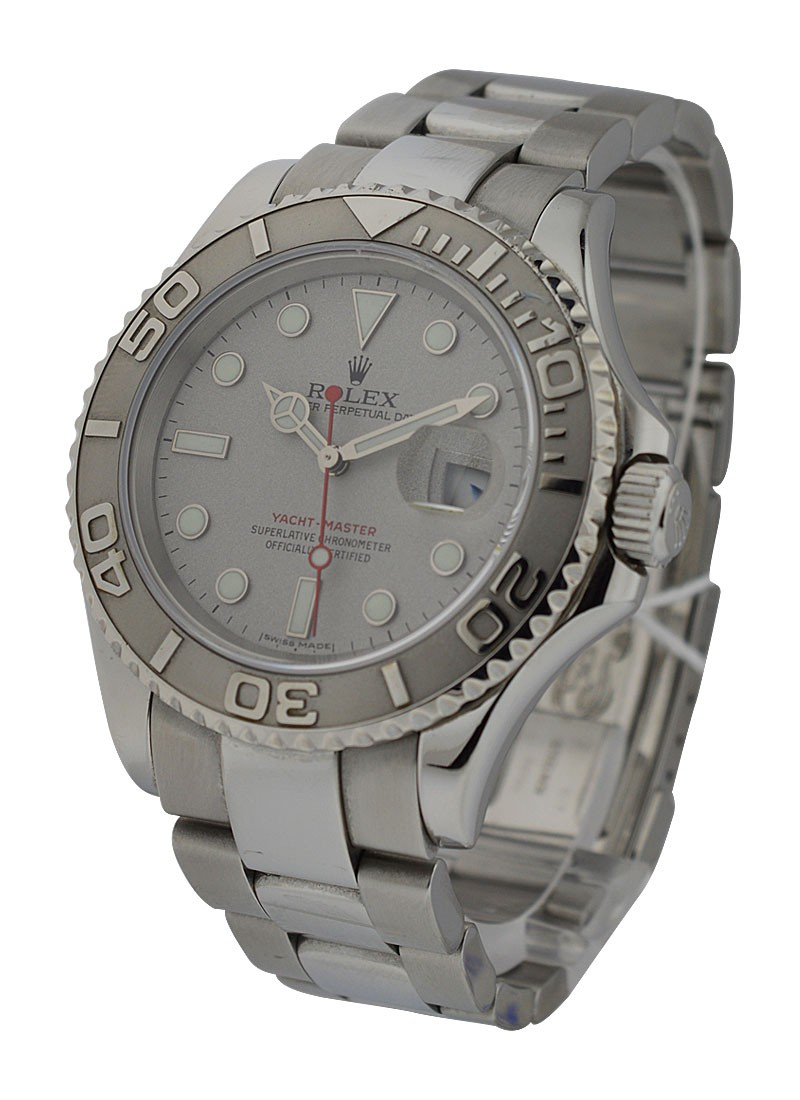 Rolex Used Men's Yachtmaster 40mm in Steel with Platinium Bezel