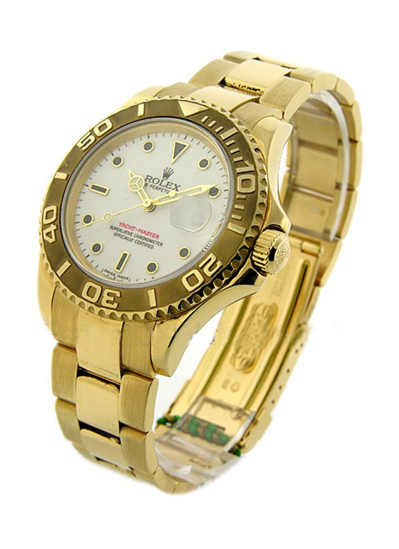 Rolex Used Yachtmaster Large Size 40mm in Yellow Gold circa 1998