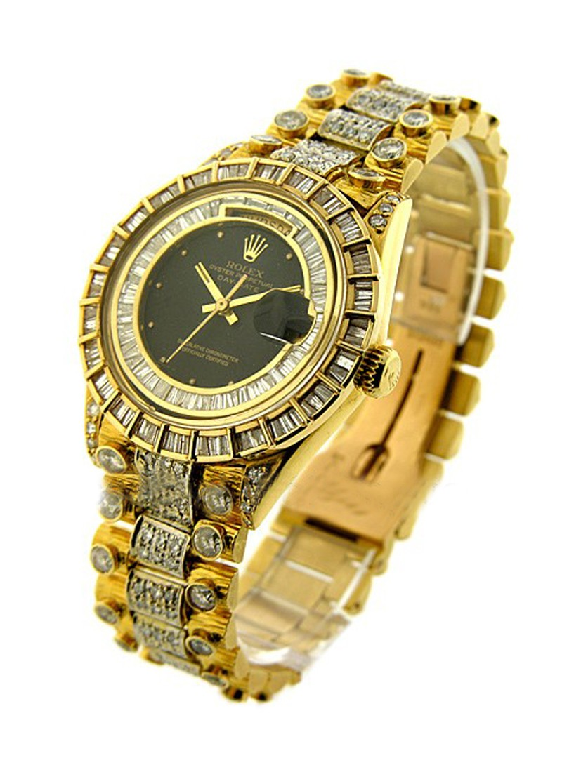 Rolex Used  Yellow Gold President Supper Bling Bling