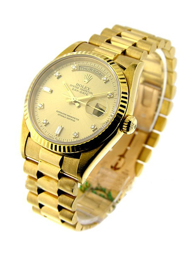 Rolex Used Men's Yellow Gold Double Quick PRESIDENT 18238