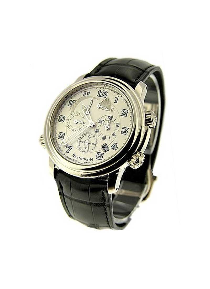 Blancpain Leman GMT Alarm 40mm Automatic in White Gold
