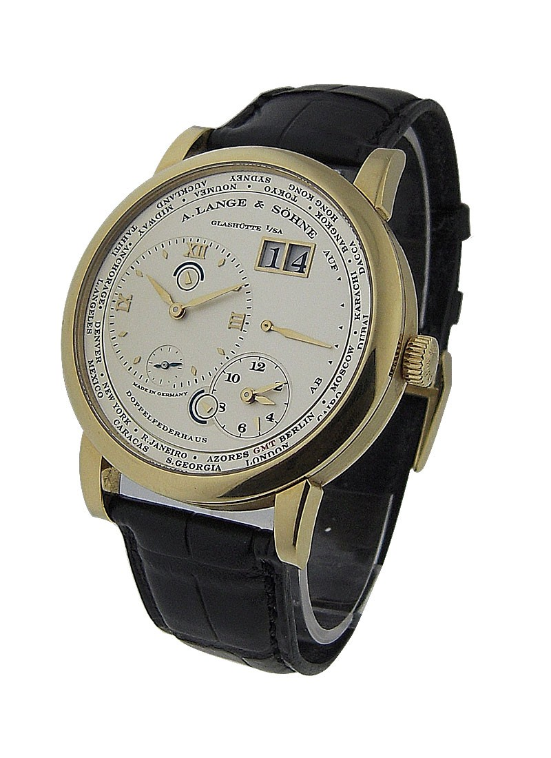 A. Lange & Sohne Lange 1 Timezone mens Mechanical  in Yellow Gold