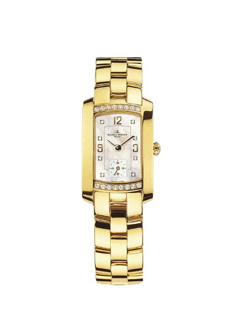 Baume & Mercier Hampton Milleis Lady in Yellow Gold with Diamonds Bezel