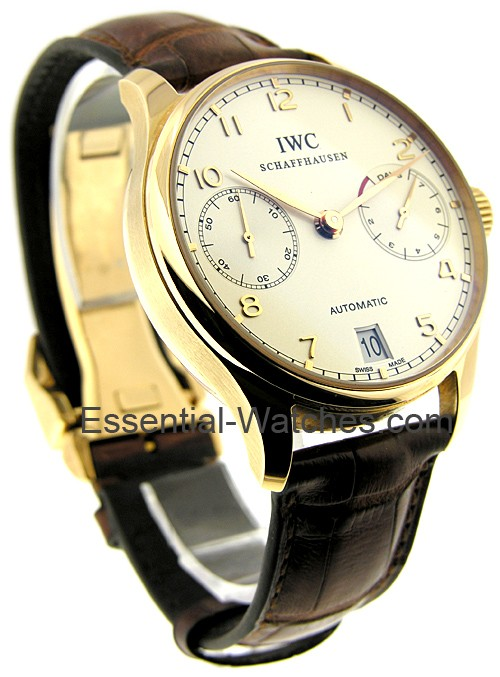 IWC Portuguese 7 Day Automatic in Rose Gold