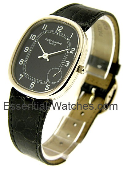 Patek Philippe White Golden  Ellipse with Black Dial