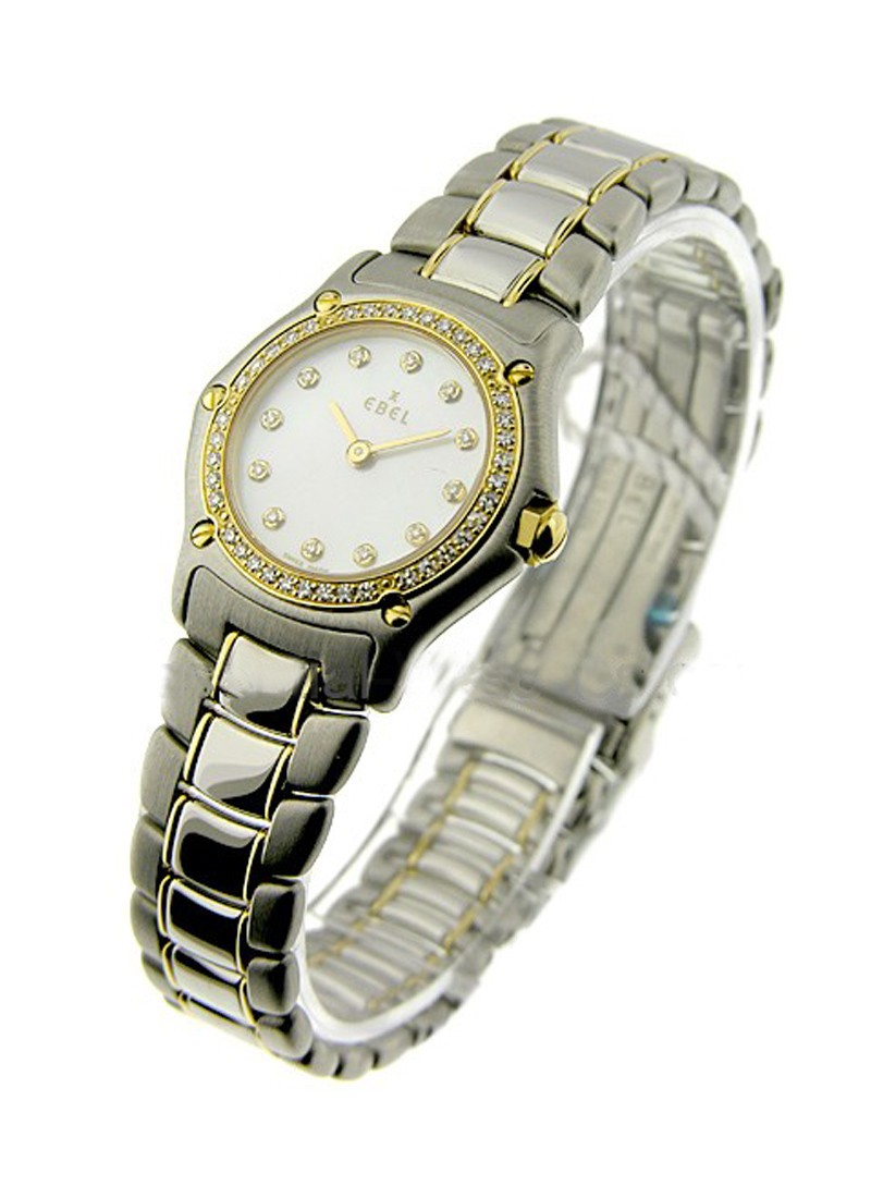 Ebel 1911 Mini in Steel and Yellow Gold with Diamond Bezel