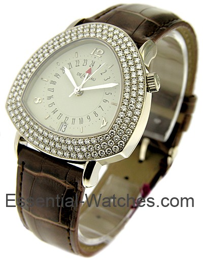 Delaneau White Gold GMT