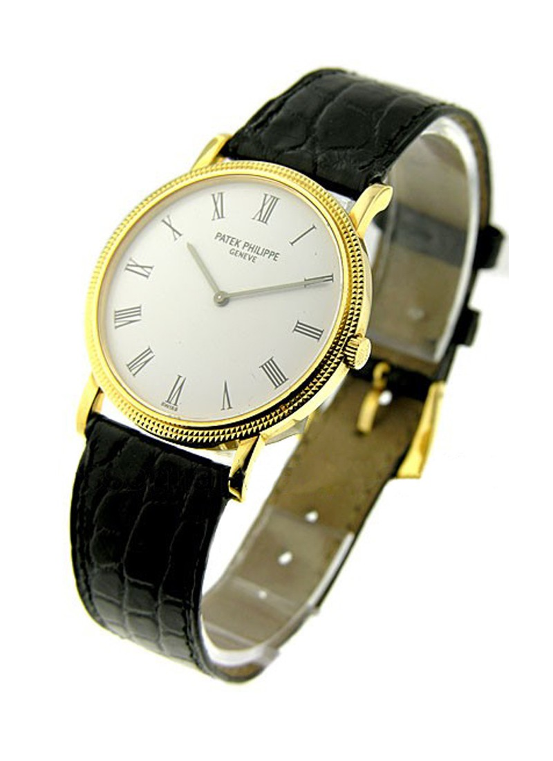 Patek Philippe Calatrava in Hobnail Yellow Gold Case With Yellow Gold Bezel