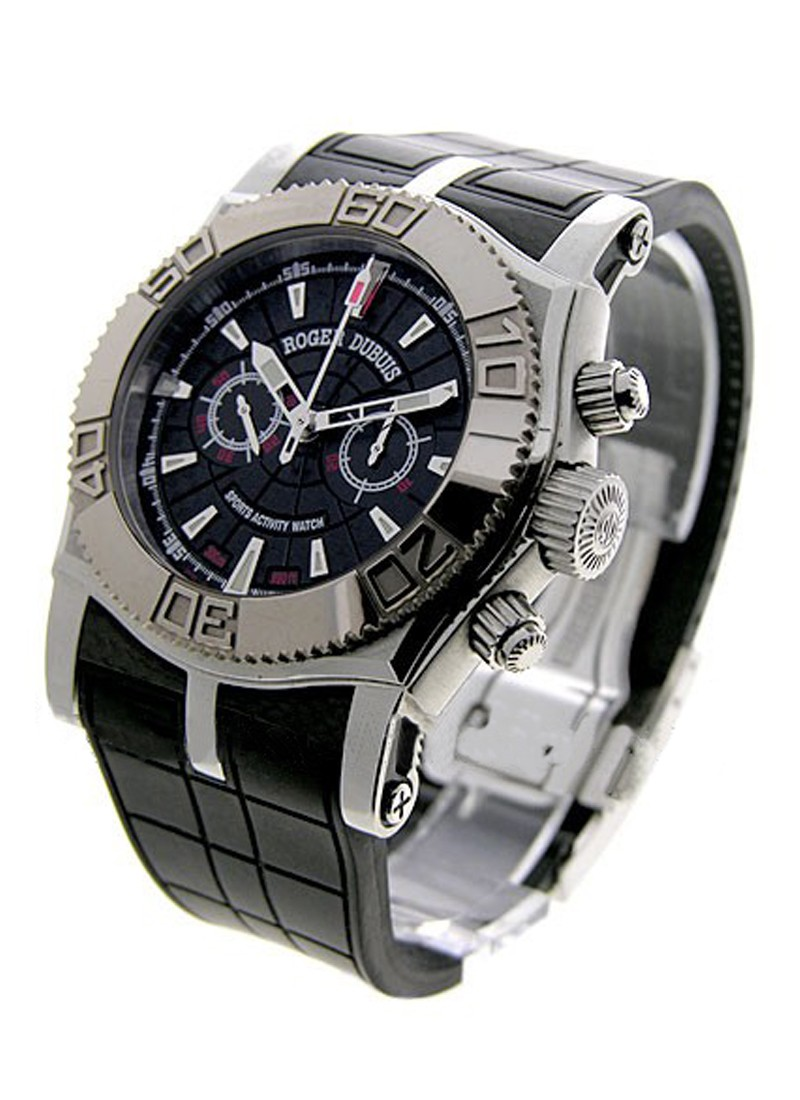 Roger Dubuis Easy Diver Chronograph in Steel with White Gold Bezel
