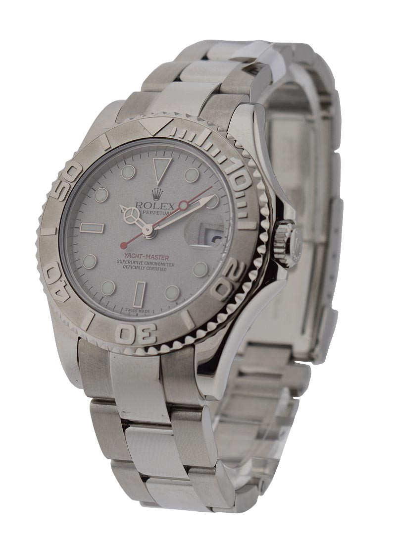 Rolex Used Yachtmaster Mid Size 35mm in Steel with Engraved Bezel