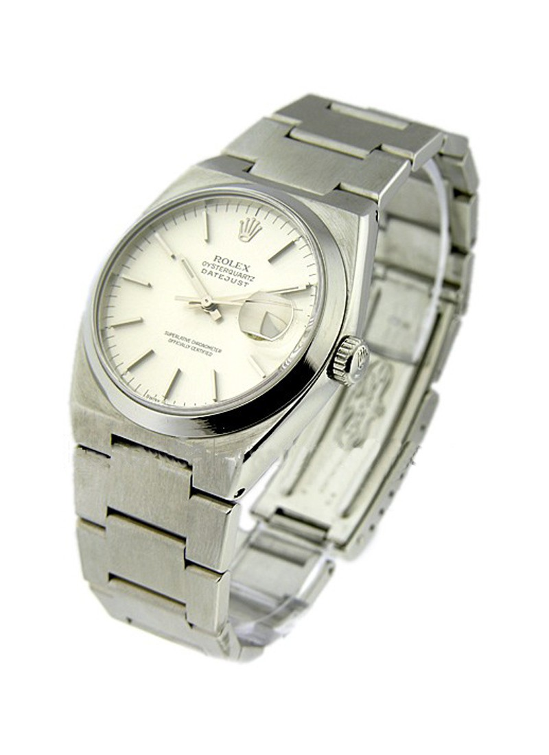 Rolex Used Oyster Quartz Datejust 36mm - Steel  Smooth Bezel
