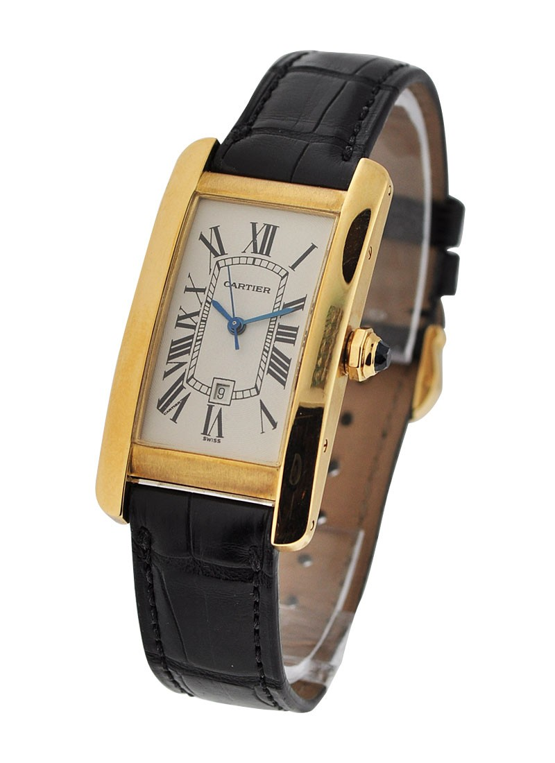 Cartier Tank Americaine Mid Size in Yellow Gold