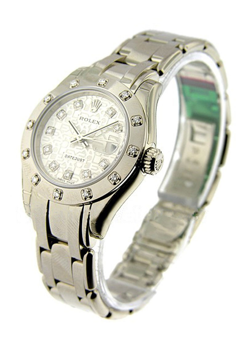 Rolex Unworn  Lady's White Gold Masterpiece   12 Diamond Bezel