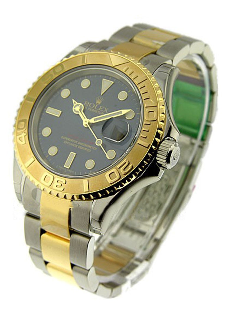 Rolex Unworn Yacht Master 2 Tone in Steel and Yellow Gold Rotatable Time Lapse Bezel