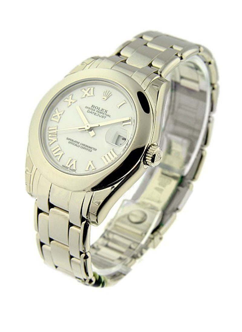 Pre-Owned Rolex Masterpiece 34mm in White Gold with Smooth Bezel