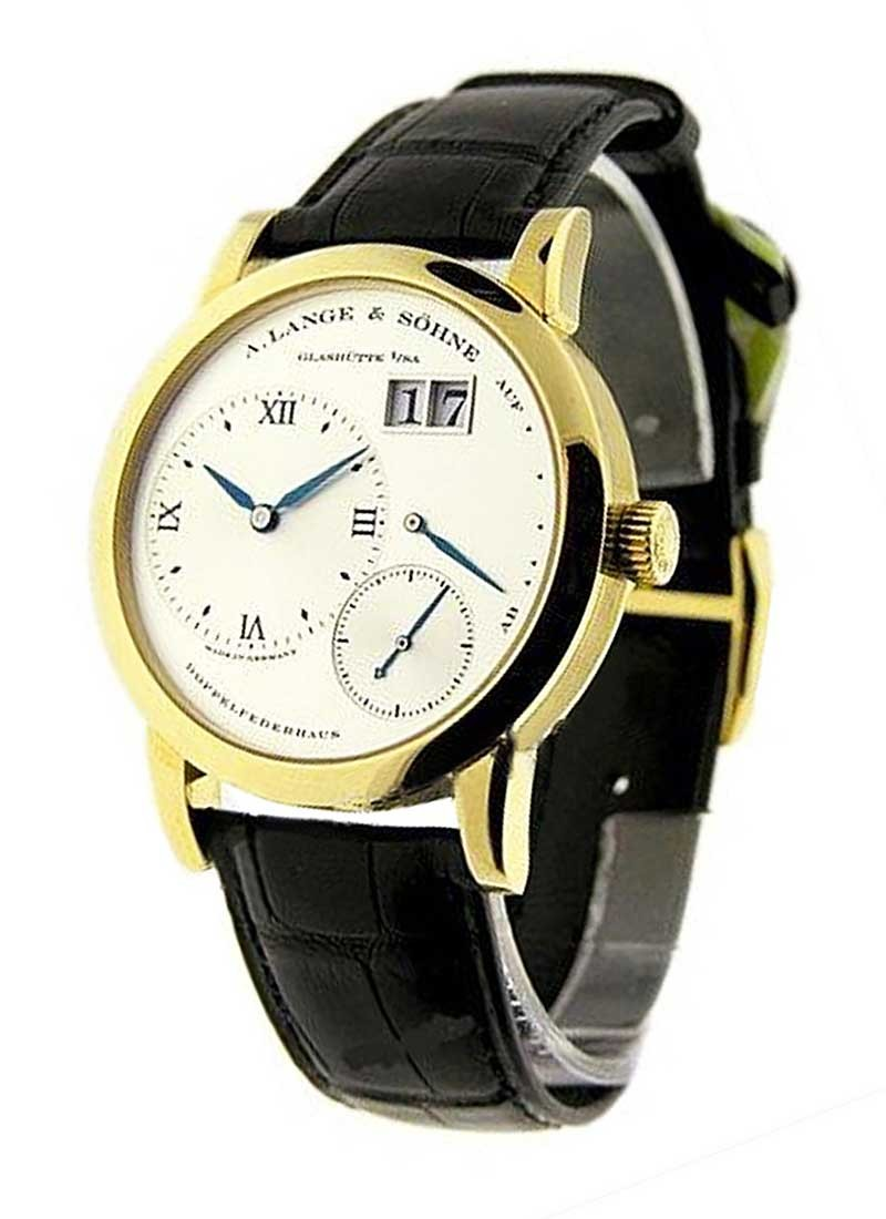 A. Lange & Sohne Lange 1 in Mens Mechanical in Yellow Gold