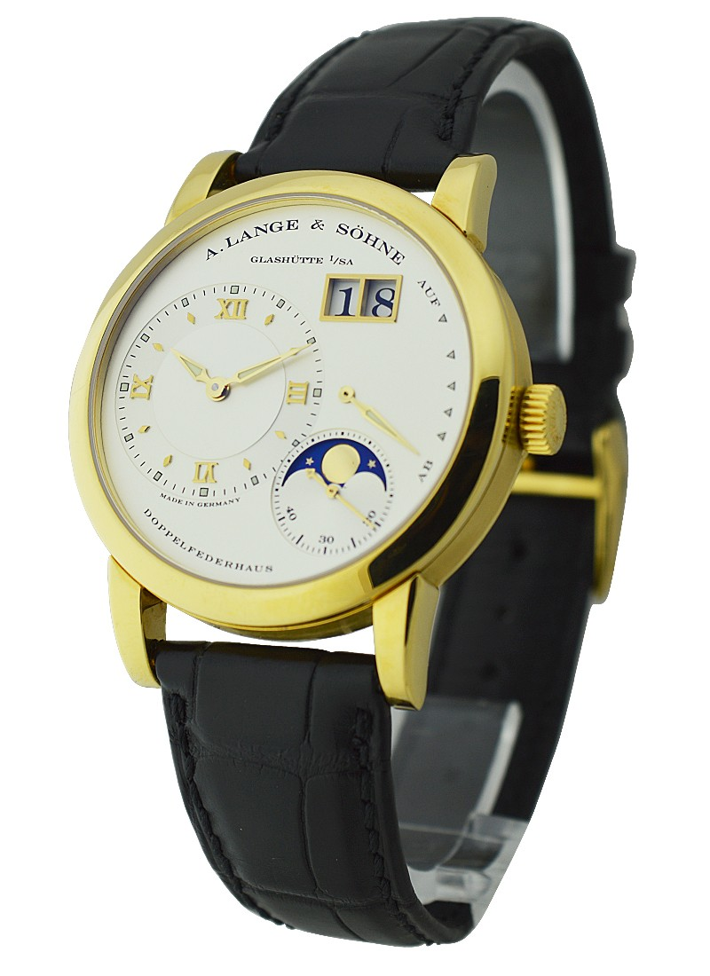 A. Lange & Sohne  Lange 1 Moonphase in Yellow Gold
