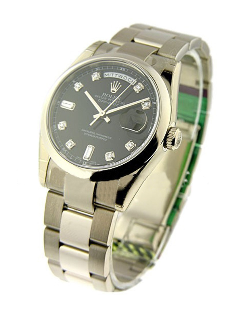 Rolex Unworn Day   Date President in White Gold with Domed Bezel