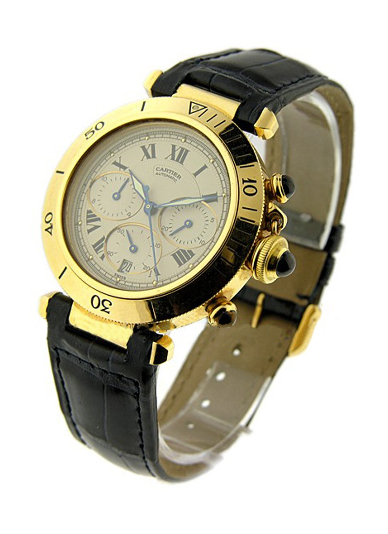 Cartier Pasha Chrono in Yellow Gold   Old Style