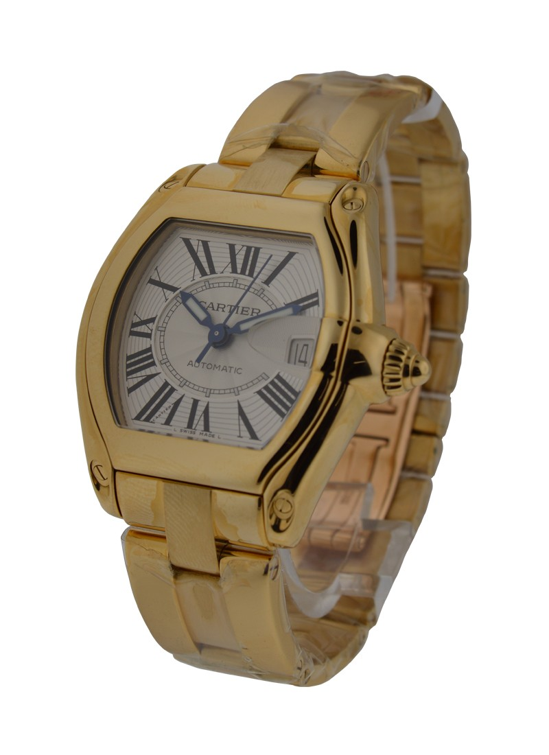 Cartier Roadster Mens Yellow Gold on Bracelet