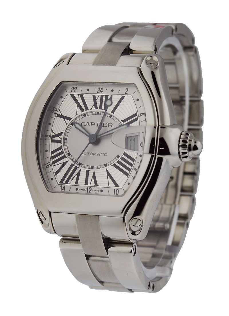 Cartier ROADSTER GMT   Large Size in Steel