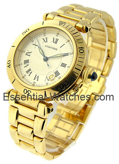 Cartier Pasha 35mm in Yellow Gold