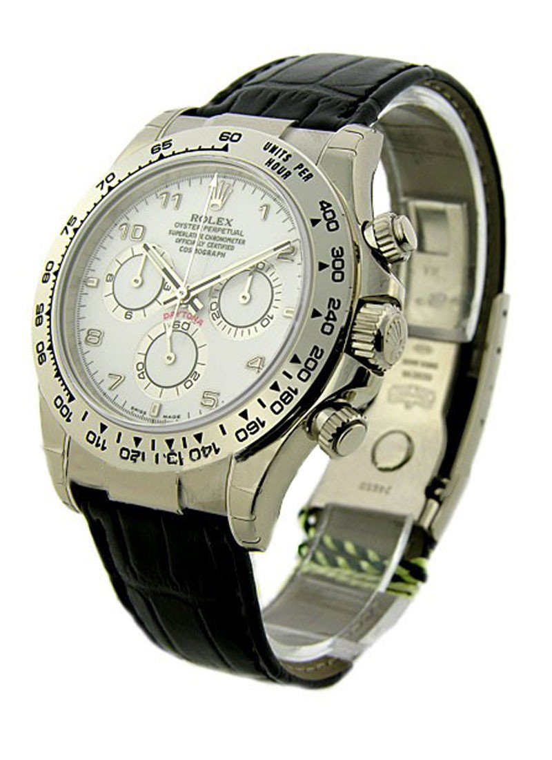Rolex Used Daytona Rolex Movement in White Gold