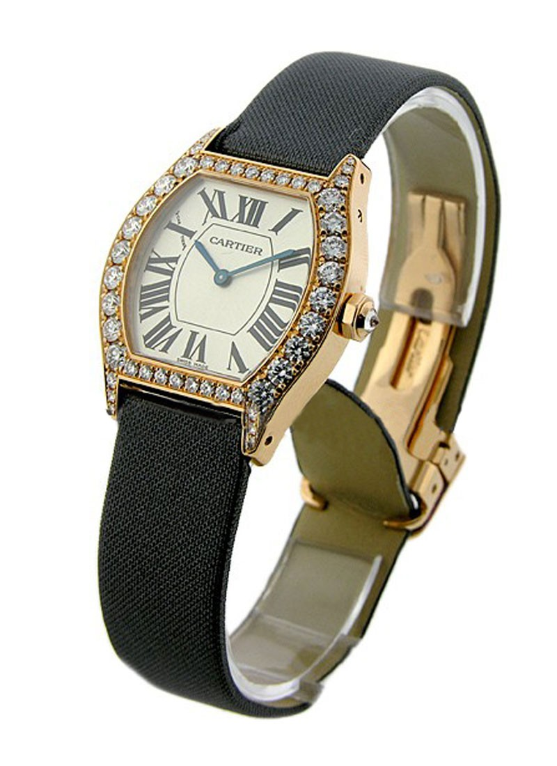 Cartier Tortue with Diamond Case  Small Size
