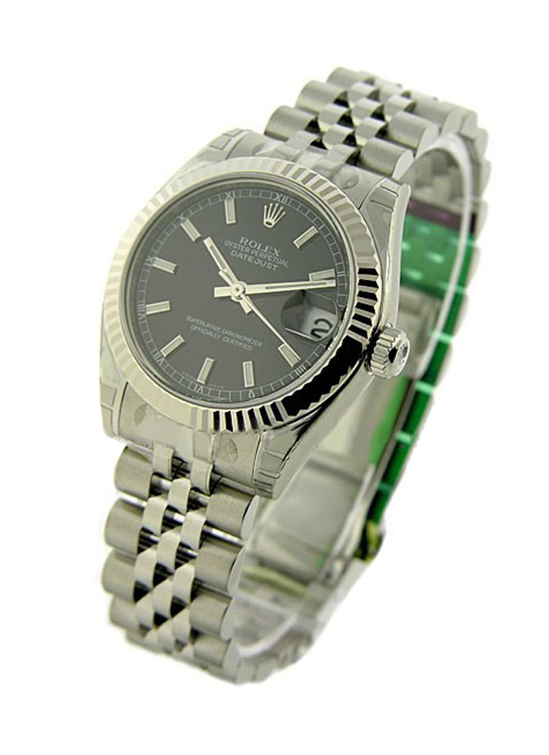 Rolex Unworn Datejust Mid Size 31mm in Steel with Fluted Bezel