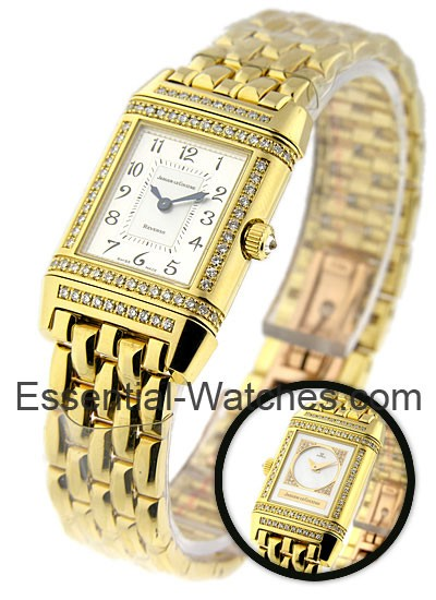 Jaeger - LeCoultre Lady's Duetto Reverso in Yellow Gold with Diamond